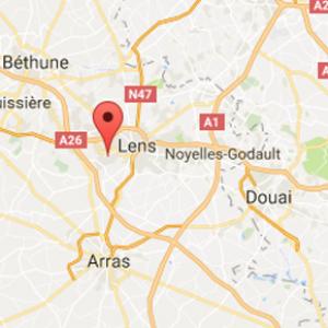 kart Lievin Frankrike