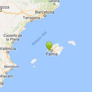 Kart Santa Ponca på Mallorca Spania